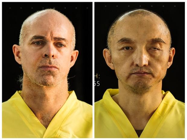 Fotos sem data mostram o norueguês Ole Johan Grimsgaard-Ofstad e o chinês Fan Jinghui, reféns que o grupo jihadista Estado Islâmico disse ter executado (Foto: Dabiq via AP)
