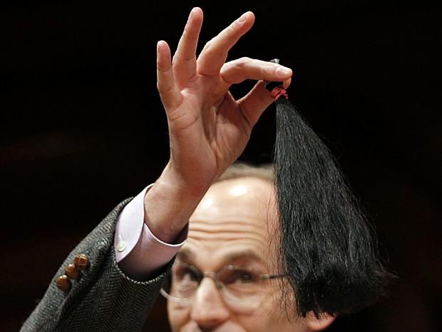 Cabelo Ig Nobel (Foto: Jessica Rinald/Reuters )