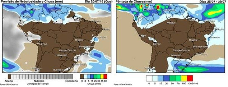 mapa-chuva-quarta (Foto: Marco Antônio dos Santos)