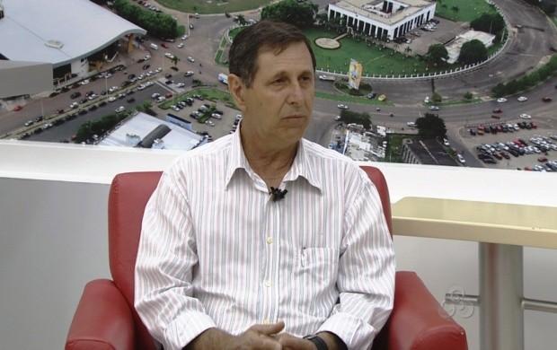 O presidente da Associação dos Arrozeiros de Roraima fala sobre o evento (Foto: Bom Dia Amazônia)