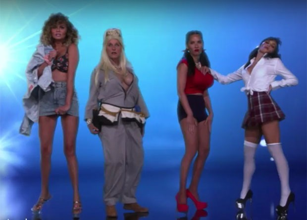 Chrissy Teigen, Ellen DeGeneres, Olivia Munn e Jennna Dewan Tatum (Foto: Reprodução)