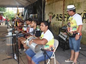 Bateria Asfaltão (Foto: Ivanete Damasceno/G1)