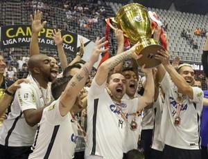 Corinthians campeão Liga Paulista de Futsal (Foto: Rodrigo Coca/Ag. Corinthians)