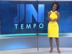 Maju mostra bastidores da previsão do tempo do Jornal Nacional