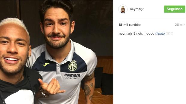BLOG: Pato visita Neymar antes de compromisso em Barcelona com o Villarreal
