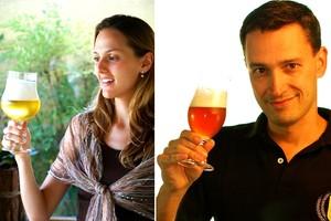 A beer sommelière Kathia Zanatta e químico e mestre-cervejeiro Alfredo Luiz Barcelos Ferreira (Foto: Arquivo Pessoal)