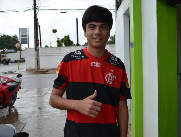 Acreano Kaisson Barroso Moreira no Flamengo (Foto: João Paulo Maia)