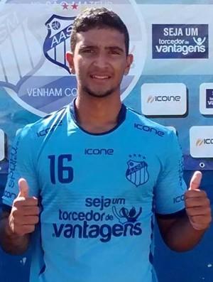 Vitor Visa, atacante do São Mateus (Foto: Rian Matos/AA São Mateus)