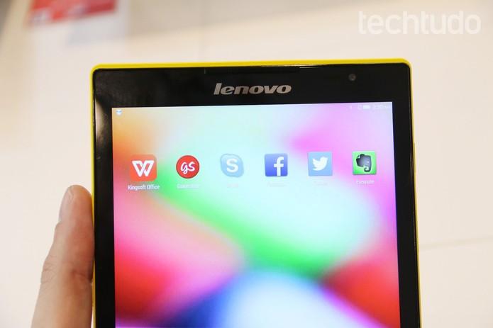 Novo Tab S8 tem resolução de 1920x1200 pixels (Foto: Fabrício Vitorino/TechTudo)