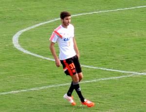 Mattheus no treino do Flamengo (Foto: Hector Werlang)