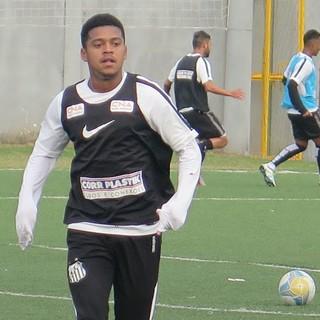 Diogo Vitor, Santos (Foto: Lucas Musetti)