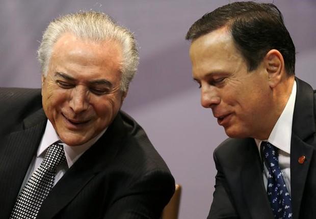 O presidente Michel Temer e prefeito de São Paulo, João Doria, em evento em São Paulo (Foto: Paulo Whitaker/Reuters)