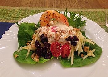 Salada de papaia verde com molho blue cheese (Foto: Arquivo pessoal)