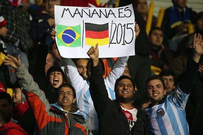 Torcida argentina provoca Brasil 7 a 1 Copa América