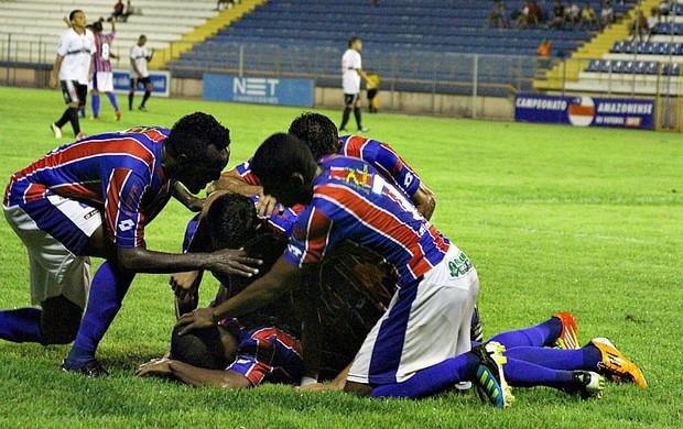 Fast Clube Goleia Rio Negro e conquista e é lider do estadual (Foto: Frank Cunha/Globoesporte.com)