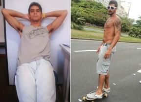 Diego Grossi, novo participante do BBB14 - Antes e Depois (Foto: Reprodução / Facebook)