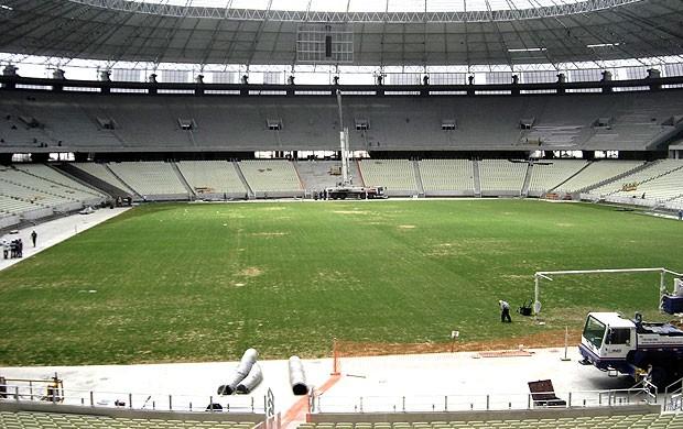 obras estádio Castelão Copa 2014 (Foto: Igor Castello Branco / Globoesporte.com)