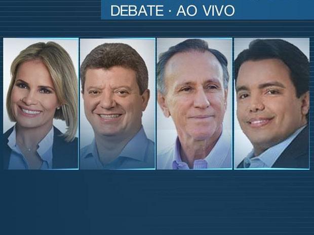 Debate na TV Integração reúne candidatos à Prefeitura de Uberaba (Foto: G1)