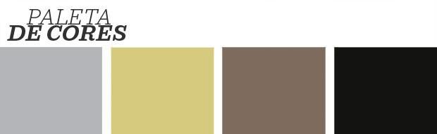Décor do dia: cinza e amarelo claro no living moderno (Foto: Reprodução)