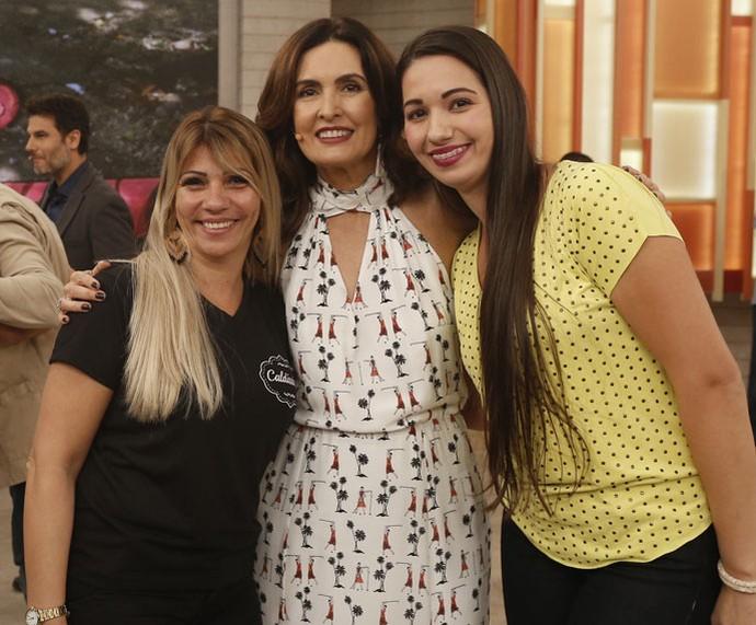 Convidadas com a Fátima  (Foto: Raphael Dias/Gshow)