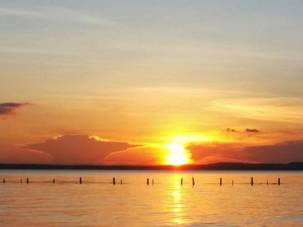 Pôr do sol encanta internauta em Lajeado, Tocantins (Foto: Fernando Alves Lima)
