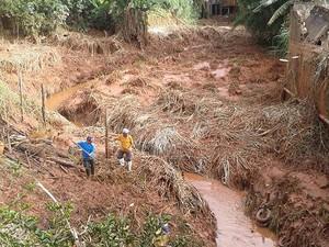 Chuva em Viçosa (Foto: Luana/Arquivo pessoal)