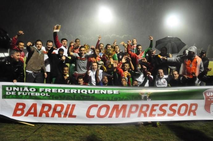 União Frederiquense acesso 2014 (Foto: Divulgação/União)