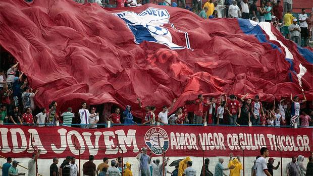 Torcida do Guaratinguetá no estádio Dario Rodrigues Leite (Foto: Comunicação Guaratinguetá Futebol/ Divulgação)