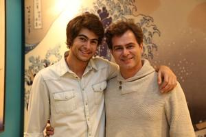 Rafael e João Vitti, talento de pai para filho (Foto: Carol Caminha/Gshow)
