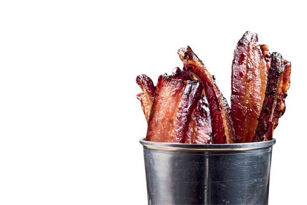 A porção de bacon do bar Tigre Cego (Foto: Divulgação)