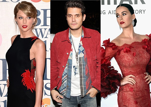 Taylor Swift, John Mayer, Katy Perry (Foto: Getty Images)