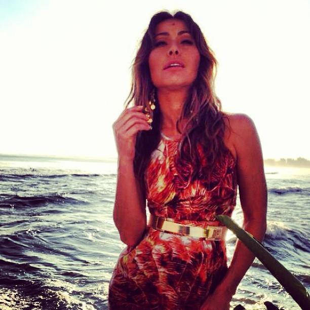 Sabrina posa sexy com maiô  (Foto: Instagram/Reprodução)