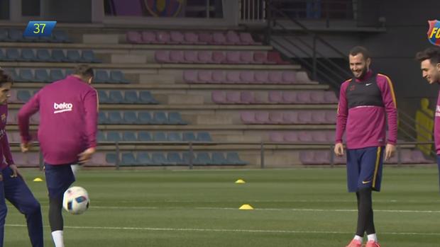 BLOG: Não vale deixar cair: Neymar e Munir atacam no altinho em treino do Barcelona