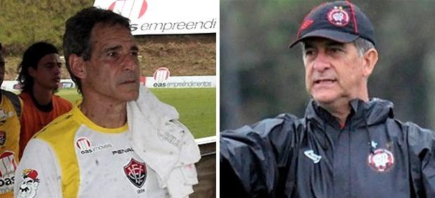 Paulo Cesar Carpegiani (Vitória) e Ricardo Drubscky (Atlético-PR) (Foto: Reprodução)