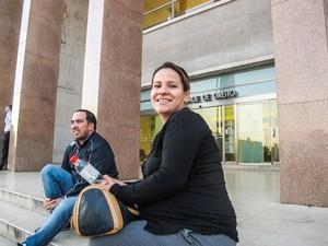 Adriele, 28 anos, foi a primeira da fila (Foto: Guilherme Tossetto/G1)