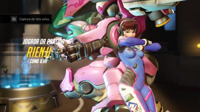 Destaque da partida em Overwatch (Foto: Reprodução/Felipe Vinha)