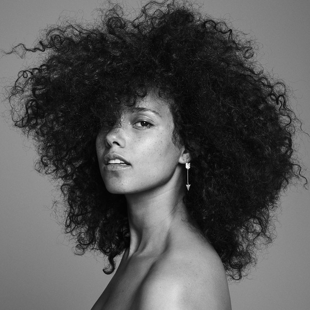 Alicia Keys na capa de seu novo álbum, Here (Foto: Twitter/ Reprodução)