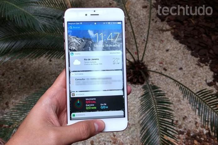 iOS 10 rodando no iPhone (Foto: Thássius Veloso/TechTudo)