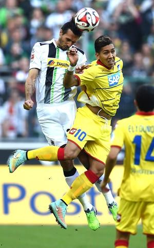 Roberto Firmino  Borussia Monchengladbach X Hoffenheim (Foto: Agência AFP)
