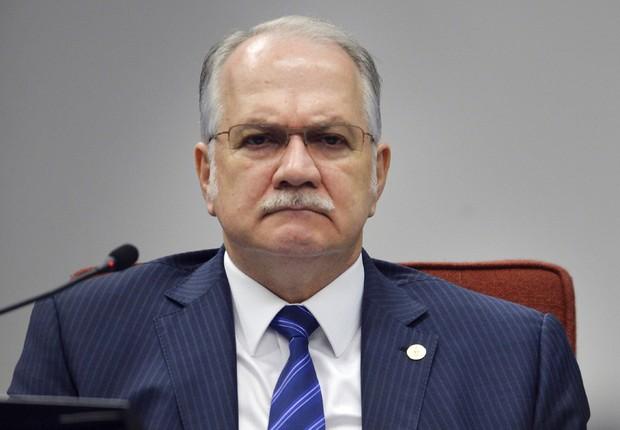O ministro do Supremo Tribunal Federal (STF), Edson Fachin, participa da audiência dos governadores para discussão sobre a dívida dos estados e cobrança de juros (Foto: José Cruz/Agência Brasil)