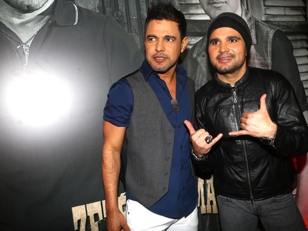 Zezé Di Camargo e Luciano em festa em São Paulo (Foto: Iwi Onodera/ EGO)