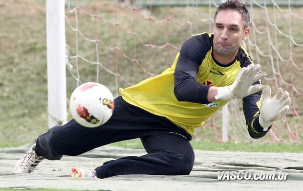 fernando prass vasco treino (Foto: Marcelo Sadio / Site Oficial do Vasco)