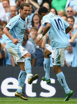Robinho Elano Manchester City (Foto: Getty Images)