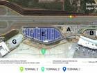 Obra interdita acesso a terminal do Aeroporto Internacional, em Confins