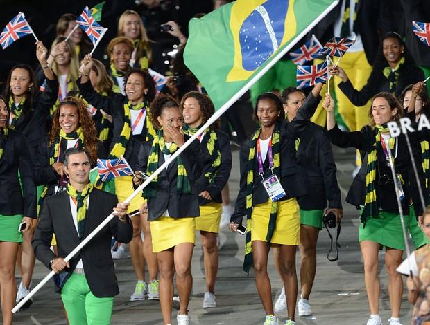 Delegação do Brasil em Londres (Foto: Agência AFP)