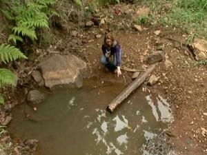 Distrito sem água (Foto: Reprodução/ TV Gazeta)