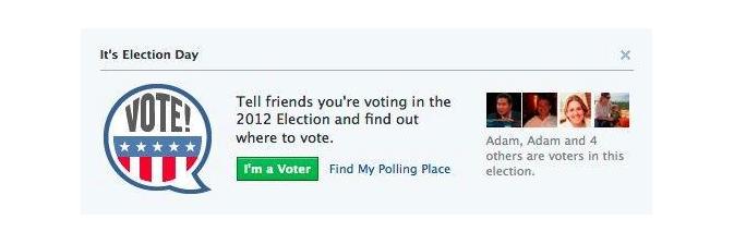 """Facebook planeja lançar a função """"I'm a Voter"""" (Eu sou um eleitor, em português)  (Foto: Reprodução/Facebook)"""