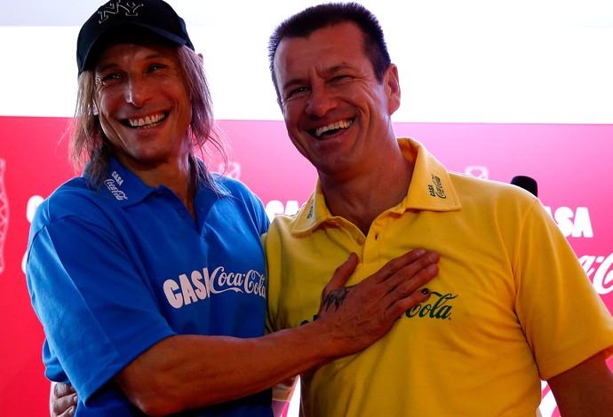 Falso Caniggia engana torcedores em Brasil x Argentina de masters em Natal