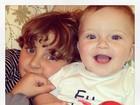 Cláudia Leitte posta foto dos filhos e se declara