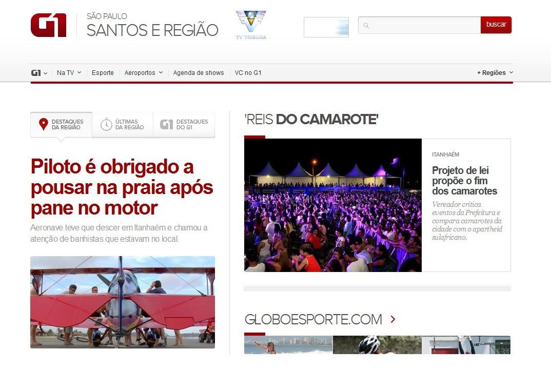 Portal G1 Santos e Região (Foto: divulgação)